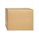 Wellpapp-Faltkartons, 2-wellig, 600 x 600 x 500 mm, braun