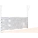 Werkbank Rückwand 1000, B 1000 x H 380 mm, Quadratlochung 10 x 10 mm, für Tischaufbauten mit B 655/1000/1250 mm