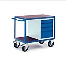 Werkplaatswagen voor zware belasting met ladekast, 1000 x 700 mm, Draagvermogen 1000 kg
