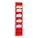 Werkstattplaner Eichner 9019-00201, einreihig, für 10 Auftragstaschen, rot