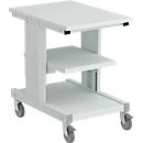 Werkstattwagen Treston CONT705-41, Arbeitsplatte & Ablageboden, manuell höhenverstellbar, bis 150 kg