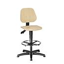 Werkstoel 9651 E, gelaagd beukenhout, glijders, voetenring, naturel gelakt