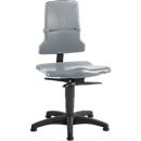 Werkstoel bimos SINTEC 2, permanent contact met zitneiging-/zitdiepteverstelling, orthozitting, zonder armleuningen, met glijders