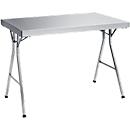 Werktafel van rvs met inklapbaar onderstel, 1200 x 700 x 850 mm