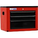 Werkzeugtruhe BASIC, H 450 x B 600 x T 440 mm, 3 Schubladen, rot