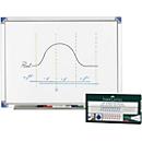 Whiteboard 900 x 1200 mm + 4 Faber Castell Whiteboardmarker GRATIS