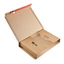 Wickelverpackung, Wellpappe, braun, B 510 x T 330 x H 85 mm, m. Selbstklebeverschluss, 20 Stück