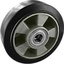 wiel, elastisch, zwart, 100x40 mm zonder rem