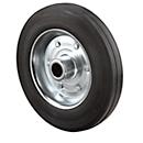 wiel, met massief rubber banden, 80 x 25 mm, 50 kg draagvermogen