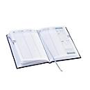 Wochenkalender Vega, 144 Seiten, B 150 x T 13 x H 210 mm, Werbedruck 100 x 80 mm, metallicblau, Auswahl Werbeanbringung optional