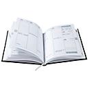 Wochentimer Tucson, 160 Seiten, B 150 x T 15 x H 210 mm, Werbedruck 100 x 80 mm, blau