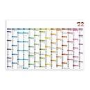 XXL-Wandkalender Colors, B 1210 x H 770 mm, Werbedruck 900 x 80 mm, Auswahl Werbeanbringung erforderlich