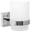 Zahnbürstenhalter tesa® ekkro, verchromt/satiniertes Glas, Montage ohne Bohren, m. Klebelösung