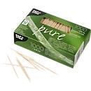 Zahnstocher, FSC®-zertifiziertes Holz, L jeweils 68 mm, 1000 Stück, naturfarben, in Faltschachtel