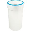 Zelfblussende afvalverzamelaar, 60 liter, wit/blauw
