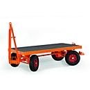 Zwaarlast-aanhangwagen, 4-wielen-stuurpenbesturing, luchtbanden, draagvermogen 3000 kg, 2000 x 1000 mm