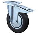 Zwenkwiel, met rem, H 100 mm, draagvermogen 50 kg