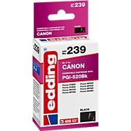 Inktcartridge edding compatibel met Canon PGI-520BK, zwart, 405 pagina's