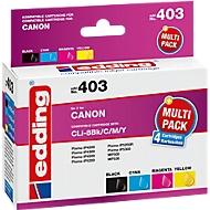 Inktcartridges multipack edding compatibel met Canon CLI-8BK, 4-kleurig, 965 pagina's