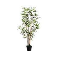 Kunstpflanze PAPERFLOW Bambus, grün, aus PE, inkl. Kunststofftopf, H 1200 mm