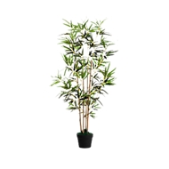 Kunstplant PAPERFLOW bamboe, groen, van PE, incl. kunststof pot, H 1200 mm