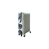 Mobiler Ölradiator OFR-9D, kabelgebunden, 3 Leistungsstufen, 24 h Timer, Auto-Thermostat & Überhitzungsschutz
