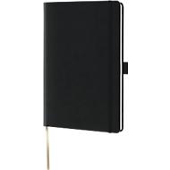 Notizbuch Lediberg A5, 240 Blatt kariert, mit Gummibandverschluss, schwarz
