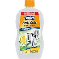Ontkalker anti Calc Bio-Liquid Universal Swirl®, geschikt voor levensmiddelen, met doseerhulp, 375 ml