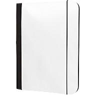 Schreibmappe BASE, DIN A4, 600D Kunststoff, inkl. Schreibblock, schwarz, Werbedruck 220 x 330 mm