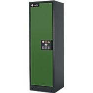 Sicherheitsschrank Typ 90 asecos, B 600 mm, Tür links, 3 Böden, resedagrün