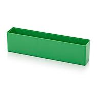 Sortimentskasten Einsatzkasten, für Rastergröße 1 x 5, rechteckig, grün