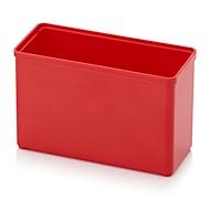 Sortimentskasten Einsatzkasten, rechteckig, robuster Kunststoff, rot