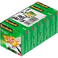 Sparset Klebeband Scotch® Magic™ 810, 6 Rollen, L 33 m x B 19, Ø 26 mm