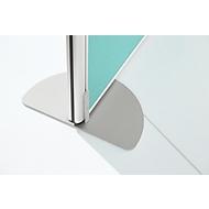 Standfuß Schallschutz System 40, höhenverstellbar, aus Stahl/Aluminium, weiß-aluminium
