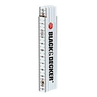 1-m-Fiberglas-Zollstock, Weiß, Standard, Auswahl Werbeanbringung optional