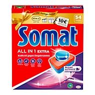 10 tablettes Somat, Tablettes pour lave-vaisselle, formule puissance express, 56tablettes