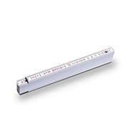 2 m Holz-Gliedermaßstab, Weiß, Standard, Auswahl Werbeanbringung erforderlich