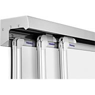 3-Kanal-Wandschiene Pro-Serie,Aluminium, inkl. Schutzschiene, 2000 mm