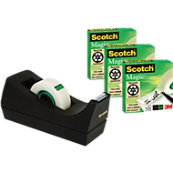3 rollen plakband Scotch® Magic™ + tafelafroller, gratis