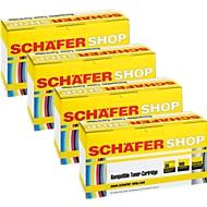 4 toners Schaefer Shop compatibles HP Q6000/01/02/03A cyan, magenta, jaune, noir