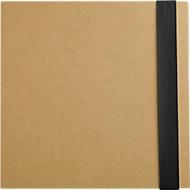 5-in-1 Notizbuch, mit Klebezetteln, Markerblöcken, Kugelschreiber, Blankopapier-Block, schwarz