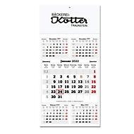 5-Monats-Planer, 12 Blätter, mit Datumschieber, B 300 x H 460 mm, Werbedruck 280 x 130 mm, Auswahl Werbeanbringung erforderlich