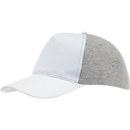 5 Panel-Cap Up to Date, weiss/grau