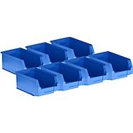 5 Sichtlagerkästen LF 321 + 2 GRATIS, Kunststoff, blau, 7,5 l
