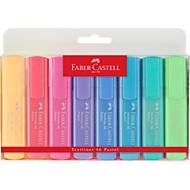 8er-Set Textmarker von FABER-CASTELL,vanille, apricot, rosé, flieder, ultramarine, lichtblau, türkis, lichtgrün