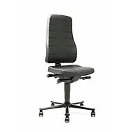 9643 werkstoel All-in-One, beklediing van PU-schuimstof, zwart