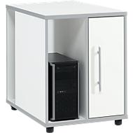 Aanbouwladeblok Moxxo IQ, pc-towervak, 1 deur, 2 zijdelingse vakken, B 551 x D 800 x H 720 mm, wit