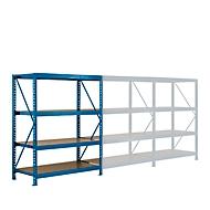 aanbouwsectie, Breedvak-legbordstelling, 4 legborden, H 2000 x B 1525 x D 600 mm