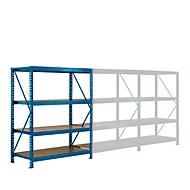 aanbouwsectie, Breedvak-legbordstelling, 4 legborden, H 2000 x B 1525 x D 800 mm