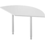 Aanbouwtafel, 135°, B 800 x D 800 mm, lichtgrijs/blank aluminium